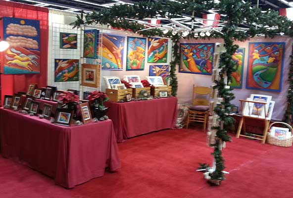 Booth at the show